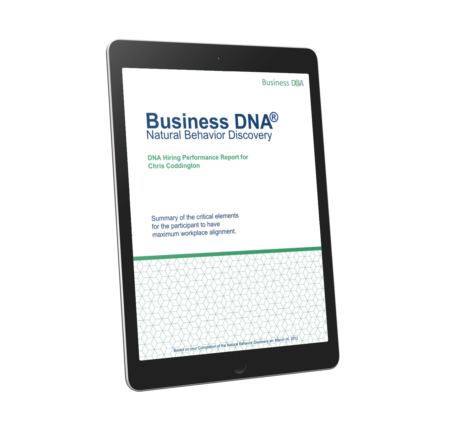 The Business DNA Hiring Report for Leader and Employee Selection and Role Alignment